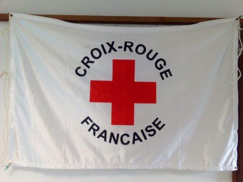 drapeau de la croix-rouge française