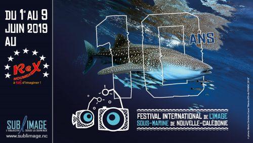 affiche du 10ème festival international de l'image sous-marine de Nouvelle-Calédonie en 2019
