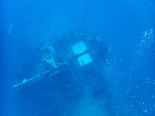épave La Dieppoise sous l'eau