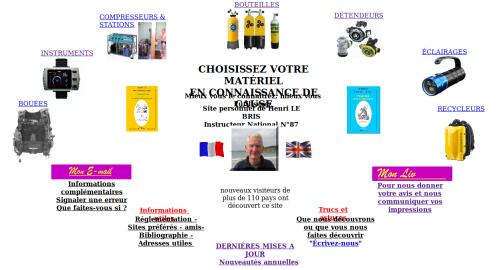 Capture d'écran du site internet de Henri LE BRIS