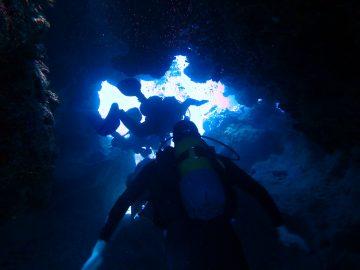 Plongée le 3 novembre 2017 dans les failles à Poindimié